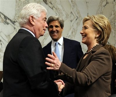 Hillary Rodham Clinton, Christopher Dodd, John Kerry