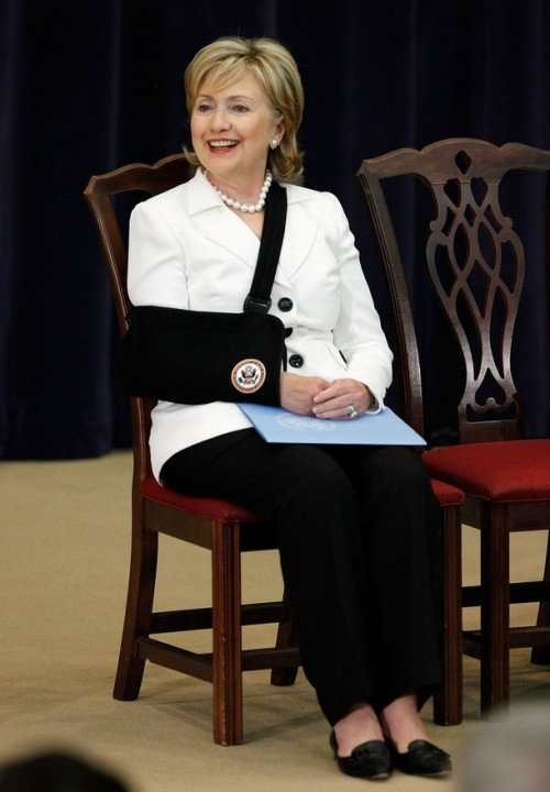 Hillary Clinton Holds Town Hall Meeting At State Department