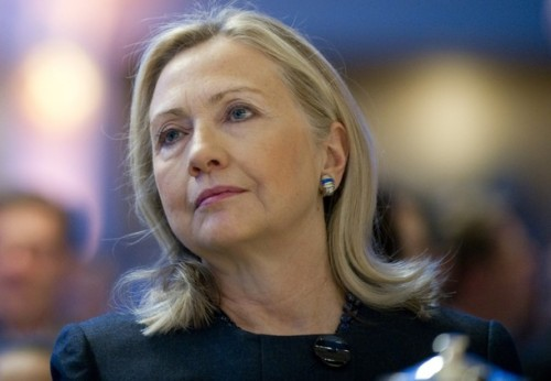 US Secretary of State Hillary Clinton at