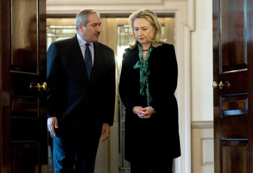 Clinton Meets With Jordanian Foreign Minister Nasser Judeh At State Dep't