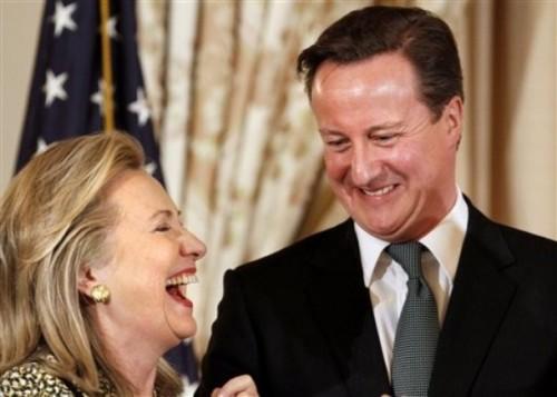 David Cameron, Hillary Rodham Clinton