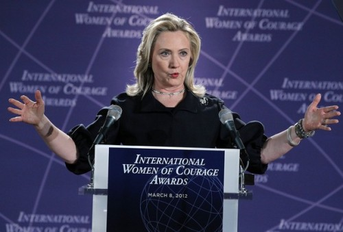 Hillary Clinton And Michelle Obama Host Int'l Women of Courage Awards Ceremony