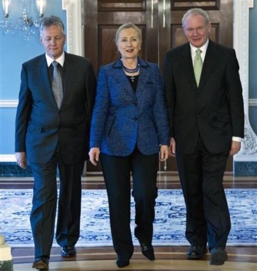 Hillary Rodham Clinton, Peter Robinson, Martin McGuiness