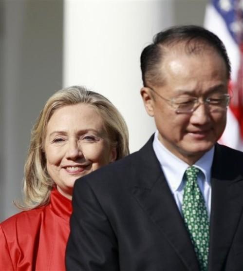 Hillary Rodham Clinton, Jim Yong Kim