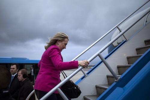 US Secretary of State Hillary Clinton bo