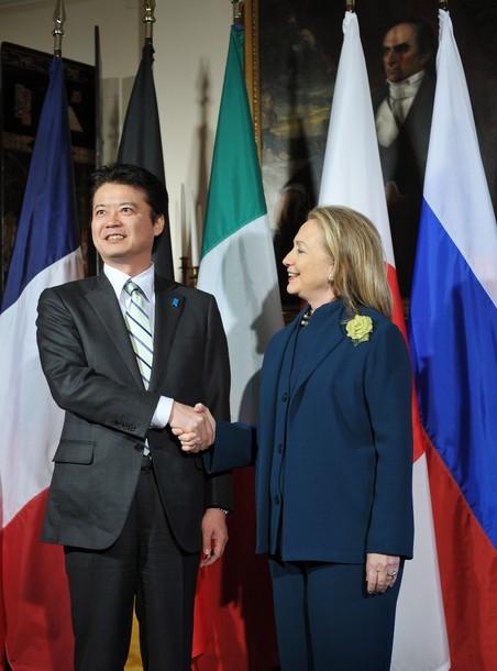 US Secretary of State Hillary Clinton gr
