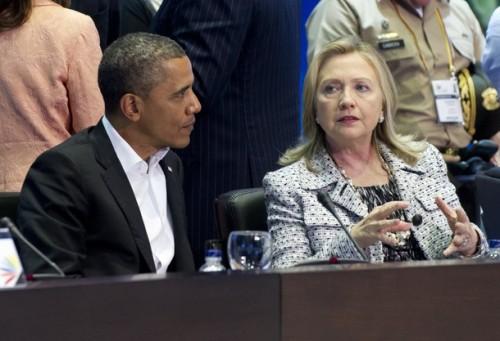 US President Barack Obama and Secretary