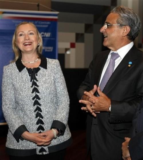 Hillary Rodham Clinton, CNI President Robson de Andrade