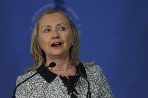 U.S. Secretary of State Hillary Clinton speaks at Brazil's CNI in Brasilia