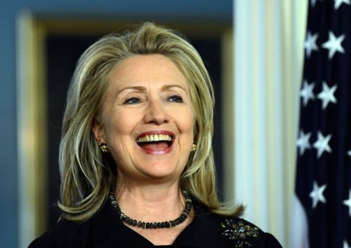 US Secretary of State Hillary Clinton sm