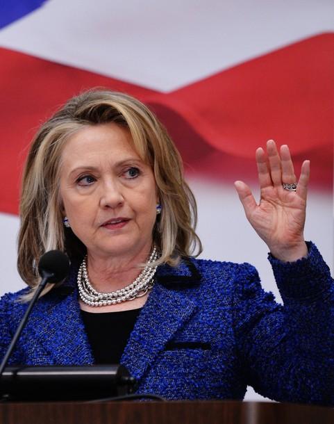 US Secretary of State Hillary Clinton de