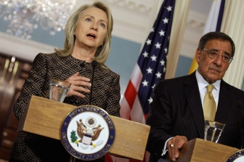 Clinton And Panetta Hold News Conf. With Phlippine Officials