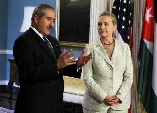 Secretary Clinton with Jordan Foreign Minister Nasser Judeh.