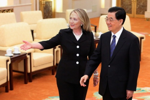 U.S. Secretary of State Hillary Clinton Visits China