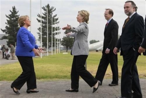 Hillary Rodham Clinton,  Michelle Bachelet,