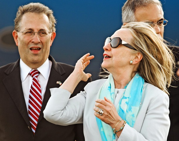US Secretary of State Hillary Clinton fl