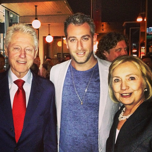 The Clintons with EMM Group's Mark Birnbaum.