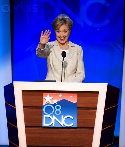 USA - 2008 Presidential Election - Senator Clinton Walk-Through at the DNC