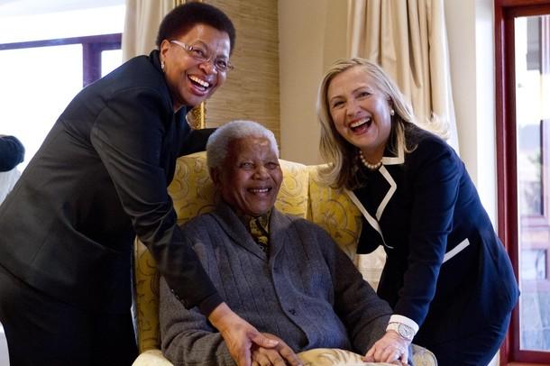 Hillary Rodham Clinton, Nelson Mandela,  Graca Machel