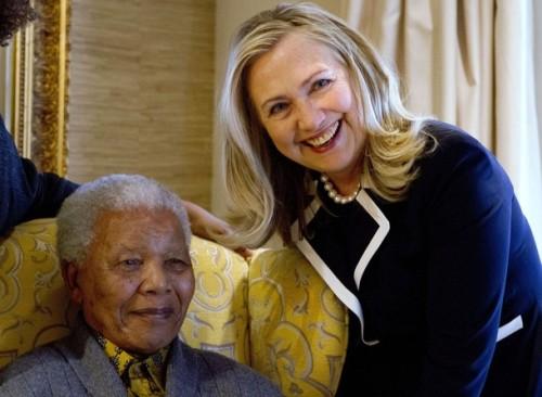 Hillary Rodham Clinton, Nelson Mandela
