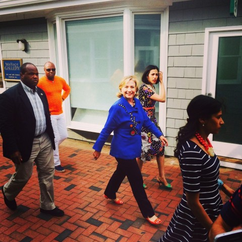 Hillary Cllinton in the Hampton's photo by ElizaBeth Taylor