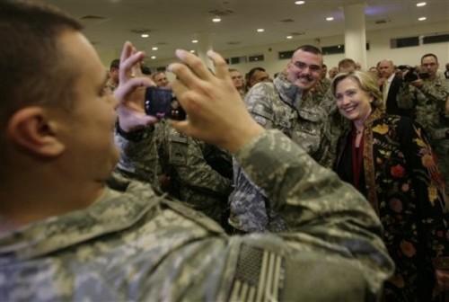APTOPIX Afghanistan Clinton