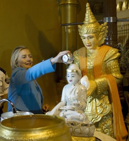 US Secretary of State Hillary Clinton po