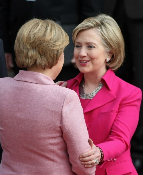 Merkel Meets With Barack Obama