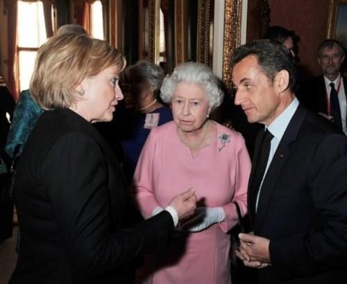Hillary Rodham Clinton, Nicolas Sarkozy, Queen Elizabeth II
