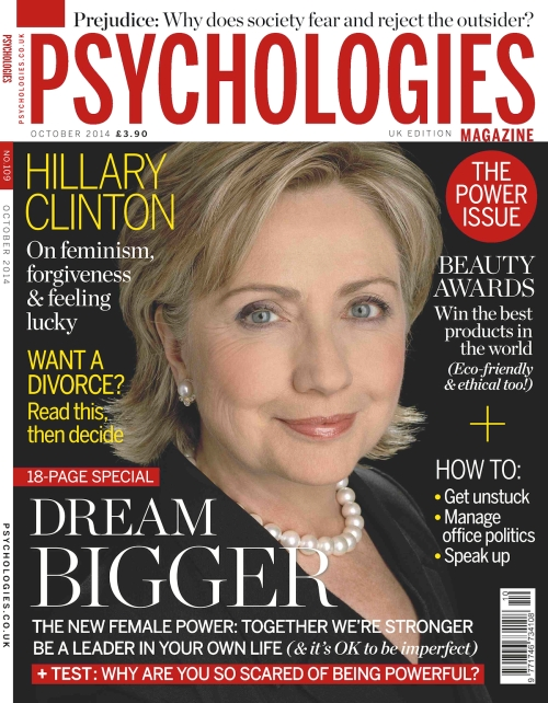 Psychologies_UK_October_2014 - Hillary Clinton on the October issue cover of the Psychologies Magazin - the world of hillary clinton