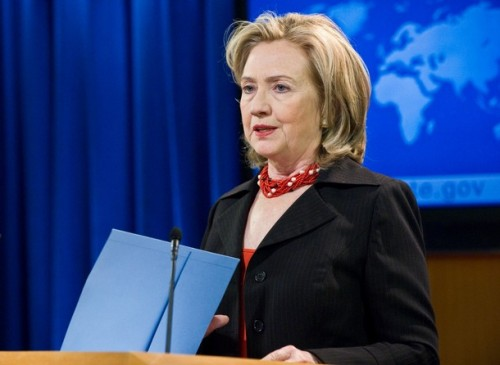 US Secretary of State Hillary Clinton de
