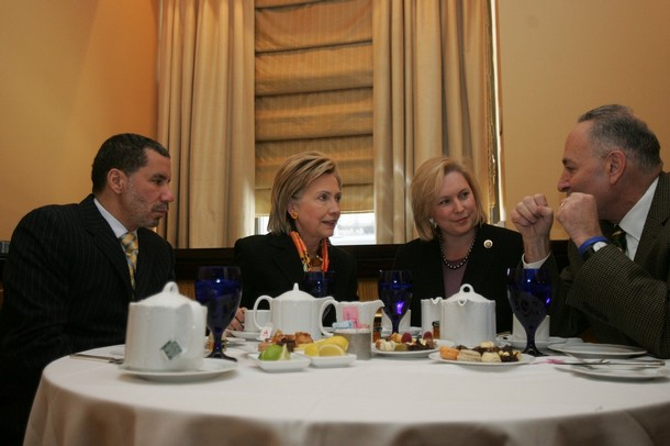 NY Gov. Paterson Meets With Hillary Clinton And Her Successor
