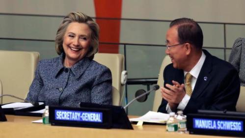 Hillary Rodham Clinton, Ban Ki-moon