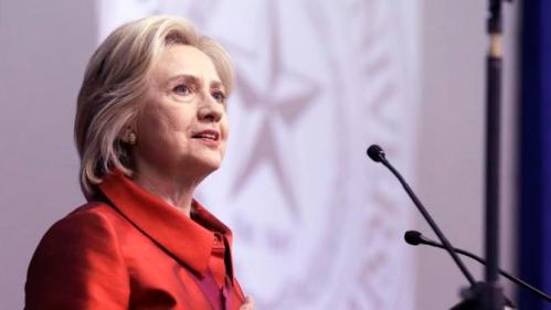 Democratic presidential candidate Hillary Rodham Clinton delviers a speech at Texas Southern University in Houston, Thursday, June 4, 2015. Clinton is calling for an expansion of early voting and pushing back against Republican-led efforts to restrict voting access, laying down a marker on voting rights at the start of her presidential campaign. (AP Photo/Pat Sullivan)