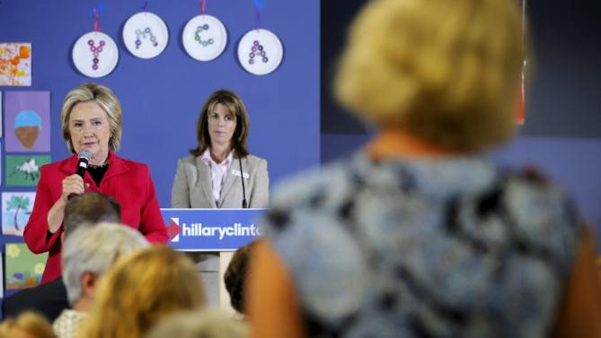Democratic presidential candidate Hillary Clinton listens to a question from the audience during a campaign stop at the YMCA in Rochester, New Hampshire June 15, 2015.  REUTERS/Brian Snyder