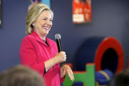 Democratic presidential candidate Hillary Clinton speaks about early childhood education during a campaign stop at the YMCA in Rochester, New Hampshire June 15, 2015.  REUTERS/Brian Snyder