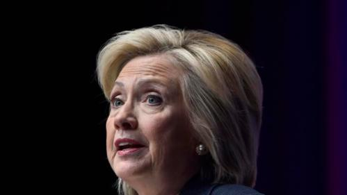 Democratic presidential candidate Hillary Rodham Clinton speaks the National Association of Latino Elected and Appointed Officials, Thursday, June 18, 2015, in Las Vegas. (AP Photo/David Becker)