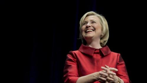 Democratic presidential candidate Hillary Rodham Clinton, responds to the cheer of supporters  at a Jefferson Jackson event hosted by the Democratic Party of Virginia at George Mason University's Patriot Center, in Fairfax, Va., Friday, June 26, 2015.   (AP Photo/Manuel Balce Ceneta)