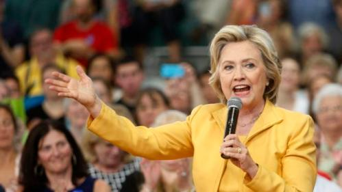 Democratic presidential candidate Hillary Rodham Clinton speaks during a campaign stop, Tuesday, July 28, 2015, in Nashua, N.H. (AP Photo/Jim Cole)