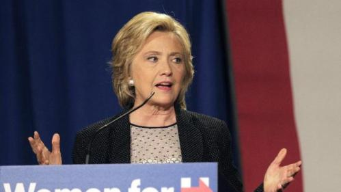 Democratic presidential candidate Hillary Rodham Clinton speaks at a 'Women for Hillary' grassroots organizing meeting, Thursday, Sept. 10, 2015, in Columbus, Ohio. (AP Photo/Jay LaPrete)