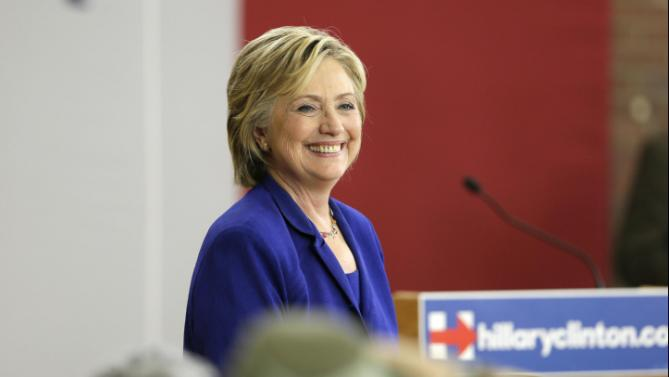Democratic presidential candidate Hillary Rodham Clinton speaks during a community forum on healthcare, Tuesday, Sept. 22, 2015, at Moulton Elementary School in Des Moines, Iowa. (AP Photo/Charlie Neibergall)