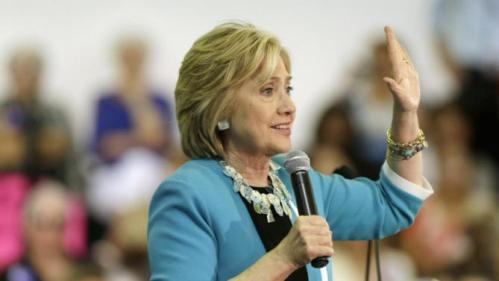 Democratic presidential candidate Hillary Rodham Clinton speaks during a campaign event at Broward College, Friday, Oct. 2, 2015, in Davie, Fla. (AP Photo/Lynne Sladky)