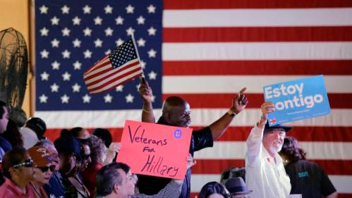 Supporters cheer for Democratic presidential candidate Hillary Rodham Clinton cheer during a campaign event, Thursday, Oct. 15, 2015, in San Antonio. (AP Photo/Eric Gay)
