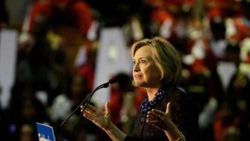Democratic presidential candidate Hillary Rodham Clinton speaks during a campaign event at Clark Atlanta University Friday, Oct. 30, 2015, in Atlanta. (AP Photo/David Goldman)