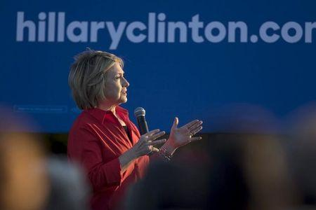 "Democratic presidential candidate Hillary Clinton speaks during the ""Fighting for Us"" town hall event in Coralville, Iowa, November 3, 2015. REUTERS/Scott Morgan"