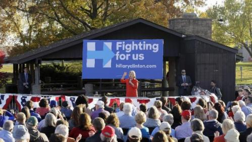 Democratic presidential candidate Hillary Rodham Clinton speaks during a town hall meeting, Tuesday, Nov. 3, 2015, in Coralville, Iowa. (AP Photo/Charlie Neibergall)