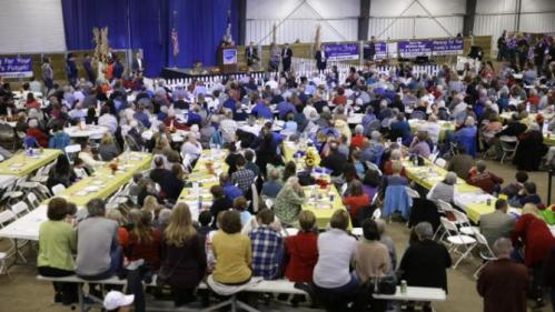 Democratic presidential candidate Hillary Rodham Clinton speaks at the Central Iowa Democrats Fall Barbecue Sunday, Nov. 15, 2015, in Ames, Iowa. (AP Photo/Charlie Neibergall)