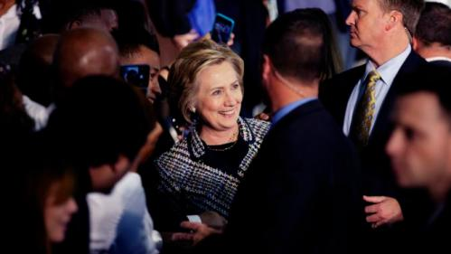 Democratic presidential candidate Hillary Rodham Clinton poses for photos with supporters after speaking at a campaign event at Mountain View Community College, Tuesday, Nov. 17, 2015, in Dallas. (AP Photo/LM Otero)