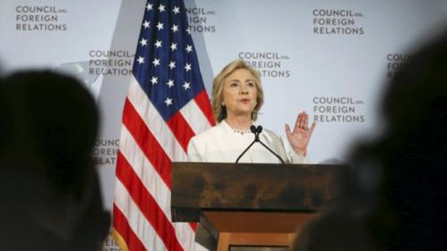Democratic U.S. presidential candidate Hillary Clinton speaks at the Council on Foreign Relations in New York November 19, 2015. REUTERS/Shannon Stapleton
