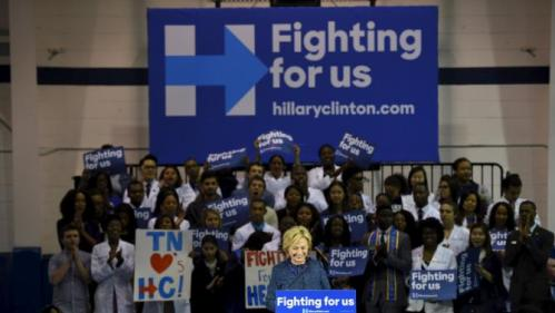 U.S. Democratic presidential candidate Hillary Clinton speaks during a campaign rally at Fisk University in Nashville, Tennessee, November 20, 2015. REUTERS/Harrison McClary